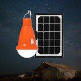 ソーラーパネルUSB充電式キャンプ電球リモートコントロール防水屋外非常灯3モード