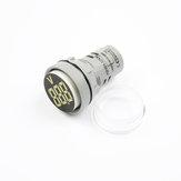 10pcs branco LED 22mm DC instrumento de medição de tensão mini voltímetro DC6 ~ 100V AD101-22VM indicador voltímetro