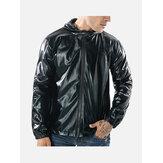 Erkek Modası Yansıtıcı Kapüşonlu Ceket
