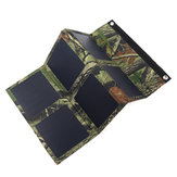 25W 5V Foldable Solar Panel Charger Solar Power Bank Dual USB Camouflage Backpack Camping Hiking for Huawei iPhone Samsung