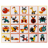 Gralara Wooden Montessori Animal Block Animal Puzzle Jigsaw Game Educational Toy