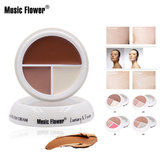 usic Flower Full Cover 3 in 1 Press Concealer Crème Gezicht Glad Waterdicht Zweetbestendig Langdurige make-up Hydraterend