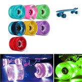 4 Pcs 60x45mm LED Light Skateboard Wheels Scooters Wheels Accessories
