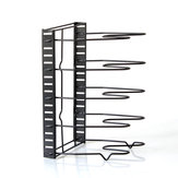 8 Layers Pot Organizer Rack Cabinet Storage Rack Lid Pan Holder Kitchen Countertop