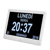 10,1 pulgadas de alta definición digital grande no abreviado Día Reloj Fecha Hora Pantalla Tabla Alarma Reloj