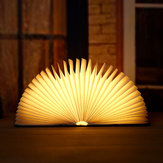 Lampe pliante en bois créative pour livre de lecture pliante en bois LED Night Light Mini Colorful Book Light