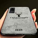 BAKEEY Deer Classic Canvas Cloth Shockproof TPU Protective Case for Samsung Galaxy S20 Ultra