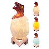 Loskii KL-02 Dekoratif 3D Raptor Dinozor Egg Akıllı Gece Lambası Dokunmatik Anahtarı 3 Renk Noel Hediyesi Için Değişim LED Nightlight
