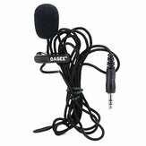 DAGEE DG-001 Portable Mini 3.5mm Jack Lapel Clip Microphone for Recording Speech Teaching