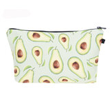 Women Cute Avocado Printed Clutch Bag Mini Storage Bag