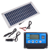 50W Dual USB 12V/5V Solar Panel with Car Charger 10/20/30/40/50A USB Solar Charger Controller for Outdoor Camping LED Light