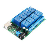2 in 1 DC 5V 8Channel USB Serial Port Relay Module UART RS232 TTL Switch Board CH340 for Windows Linux MAX OS