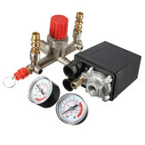 Regulator Air Compressor Pump Pressure Control Switch Valve Gauge Heaty Duty