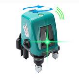 Foucault FC-435AG Mini infraröd lasernivå med sned funktionslinjeprojektor 2 linje 1 Ljusningspunkt grönt ljus