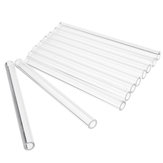 10Pcs Length 100mm OD 10mm 1mm Thick Wall Borosilicate Glass Blowing Tube Lab Factory School Home