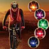 Outdoor Light Up LED Fiber Light Reflective Safety Belt Vest Strap Night Sports Bike Light