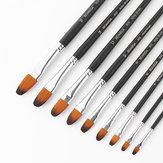 BGLN 803 9 chiếc / bộ Nylon Bàn chải sơn dầu tóc Bàn chải tròn sơn dầu cho bàn chải màu nước Bàn chải acrylic Bút pincel para pintura Học sinh Nghệ thuật Đồ dùng