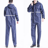 Adults Raincoat Mens Rain Long Pants Anti-UV Riding Cover Rainsuit Jacket & Hat