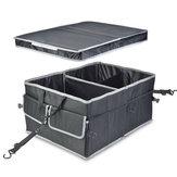 56cm x 41cm x 27cm Boîte de rangement pour organiseur de coffre de voiture - Bandes antidérapantes pour empêcher les sangles sécurisées coulissantes