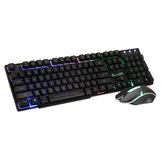 D280 104 Keys Gaming Keyboard RGB Backlit Light Wired Keyboard and 1600 DPI Gaming Mouse Set