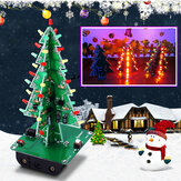DIY Christmas Tree LED Flashing Light Kit Circuit Board Mould Green Xmas
