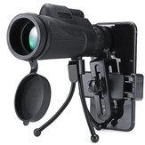 40x60 Lente de câmera monocular telescópio HD BAK4 + clipe de telefone + suporte triangular