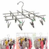 Meias dobradas de aço inoxidável Secagem de rack Pinos de suspensão Clip Lavanderia braçadeira 20