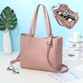 Kvinder ren farve Solid multifunktion aftagelig flaske taske Shopping skulder taske håndtaske