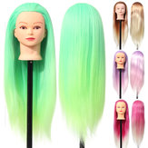 27 '' Colorful Manekin Head Hair Hairdressing Practice Training Salon + Clamp