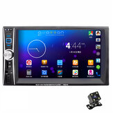 7653 7 Inch 2 Din Auto Stereo Radio Car MP5 Player Touch Screen bluetooth FM USB AUX With Rearview Camera