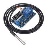 YYW-1 5V / 12V / 24V DS18B20 Interruttore sensore di temperatura Modulo di controllo interruttore relè di rilevamento temperatura