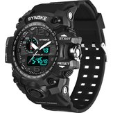 SYNOKE 9401 Sport Men Digital Watch 5ATM Waterproof Dual Time Display Luminous Dual Display Watch