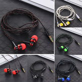 Nylon Weave Cable Earphone Headset High Quality Wired Stereo In-Ear Earphone With Mic For Laptop Smartphone