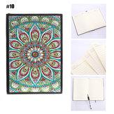 10 estilos 80 páginas A5 Cuaderno DIY Diamante Pintura Bloc de notas 5D Rhinestone completo