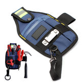 Electrician Tool Bag Solid Professional dengan Tape Buckle 3 Kantong 26 x 15cm