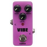 Flanger KOKKO FUV2 VIBE MINI Effets de pédale de guitare DC 9V 300MA True Bypass Pedal Effects