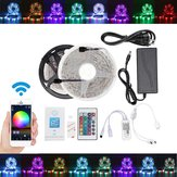 5M 10M IP65 IP20 Color Changeable WiFi Smart LED Strip Light + 24Keys IR Remote Control + Adapter + Controller