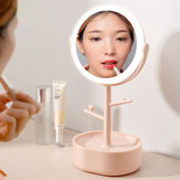 Freely Adjustable Desk LED Makeup Mirrors Multi-function 360