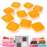 10Pcs/Set Mini Storage Box Plastic Container Baby Weaning Feeding Food Freezer Kitchen Box