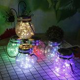Appeso solare Vetro incrinato alimentato Vaso lampada Lanterna String Fata Luce Romantica Decorazione per interni per esterni