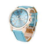 OTOKY JY9007 Leather Strap Fashion Women Quartz Watch