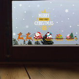 Miico SK6077 Christmas Party For Cartoon Wall Sticker Removable Room Decoration