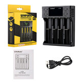 LiitoKala LII-S4 LCD Smart Battery Charger 4 Slot Charger for 18650 26650 18350 NiMH AA