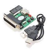 3 pcs Accessoires Informatiques PC Carte De Diagnostic USB Carte Postale Carte Mère Analyseur Testeur pour Ordinateur Portable Ordinateur Portable