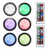 DIGOO DG-DZ18 6pcs Colorful Inalámbrico LED Luz nocturna Control remoto Lámparas regulables para armario