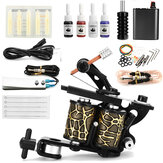 Complete Tattoo Kit Tattoo Machine Set Ink Needles Power Supply Grip Tips