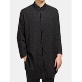 חולצת אקארד מצעי כותנה בסגנון סיני