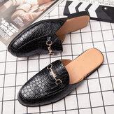 Heren lederen krokodil patroon thuis casual slippers