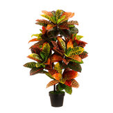 43 '' Croton Artificial Ao Ar Livre UV Topiary Tree Bush Palm Planta Pote Piscina Decorações do pátio