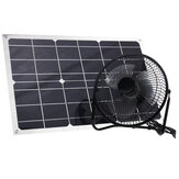8 Inch 25W 6V USB Solar Panel Powered Iron Fan Home Cooling Ventilator Camping Laptop Fan